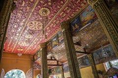 Forntida tempel i Laos Arkivfoto