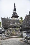 Forntida tempel i Laos Arkivbilder