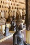 Forntida tempel i Laos Arkivbild
