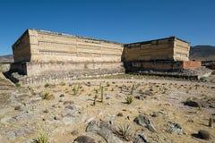 Forntida tempel i Mitla Mexico Royaltyfria Foton