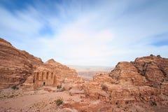 Forntida tempel i Petra, Jordanien Arkivbild