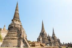 Forntida tempel i Thailand Arkivbilder