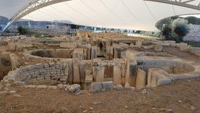 Forntida tempel Malta Fotografering för Bildbyråer