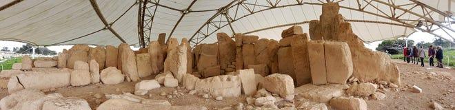 Forntida tempel Malta Royaltyfri Bild