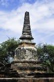 Forntida tempel och pagod i ayutthaya Thailand Arkivbild
