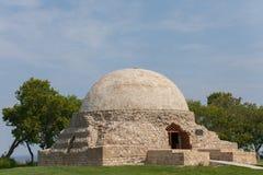 Forntida tempel, regious muslim bygga aldrig floden Volga i Bol royaltyfri fotografi