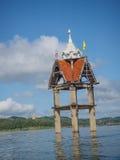 Forntida tempel, Wat Wang Wiwaykarum eller Wiwaykaram som är osedda i Tha Fotografering för Bildbyråer