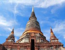 Forntida tempel (Wat Yai Chai Mongkhol), Ayutthaya Royaltyfri Fotografi