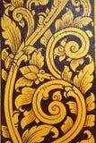 Forntida thai målning på väggen i den buddha templet Royaltyfria Foton