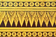 Forntida thai målning på väggen i den buddha templet Arkivbilder