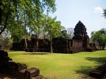 Forntida thai slott eller Prasat Muang Singh i Kanjanaburi, Thail Fotografering för Bildbyråer