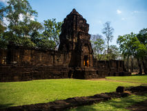 Forntida thai slott eller Prasat Muang Singh i Kanjanaburi, Thail Royaltyfria Foton