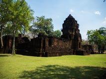 Forntida thai slott eller Prasat Muang Singh i Kanjanaburi, Thail Royaltyfri Bild