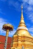 Forntida thai tempel Fotografering för Bildbyråer