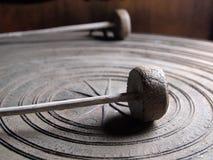 Forntida thailändsk gong arkivfoto