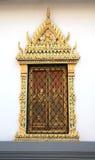 Forntida thailändsk modellstilvägg Royaltyfri Bild