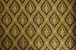 Forntida thailändsk stilvägggarnering royaltyfria foton