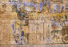 Forntida thailändsk vägg- målning arkivbild