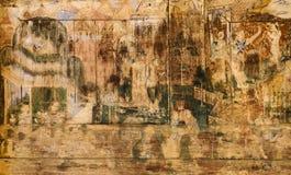 Forntida thailändsk vägg- målning royaltyfri fotografi