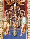 forntida thailand för tempel för phra för målningar för bangkok buddha smaragdkaew wat Arkivfoton