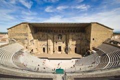 Forntida Theatre av orangen Royaltyfri Bild