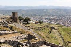 forntida theatre Pergamum kalkon Royaltyfria Bilder