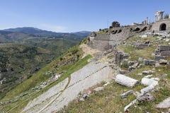 forntida theatre Pergamum kalkon Royaltyfri Fotografi