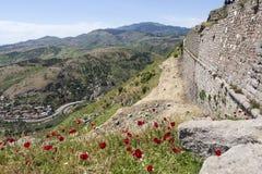 forntida theatre Pergamum kalkon Arkivfoton