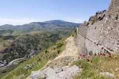 forntida theatre Pergamum kalkon Royaltyfri Bild