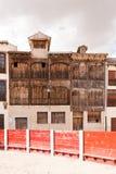 Forntida tjurfäktningsarena i Peñafiel, Spanien Royaltyfri Foto