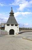 Forntida torn av den Kazan Kreml Fotografering för Bildbyråer