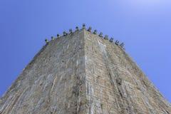 Forntida torn för fästningsten croatia trogir Fotografering för Bildbyråer