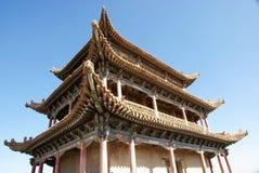 forntida torn för porslinstadsport royaltyfri fotografi