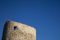 Forntida torn i Calpe, Spanien Arkivbild