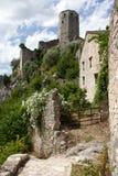 Forntida torn och hus av Pocitelj, Bosnien och Hercegovina Fotografering för Bildbyråer
