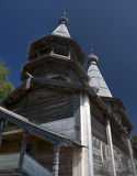 Forntida träortodox kyrka Royaltyfria Foton