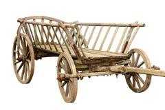 Forntida trävagn Royaltyfria Bilder