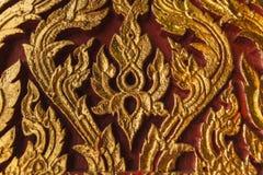 Forntida traditionell thailändsk stilvägg Royaltyfri Foto