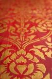 Forntida traditionell thailändsk stilvägg Arkivfoto
