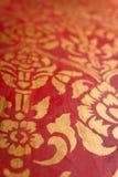 Forntida traditionell thailändsk stilvägg Royaltyfri Fotografi