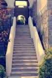 Forntida trappa Arkivbild