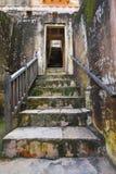 Forntida trappa på den bärnstensfärgade forten Arkivbilder