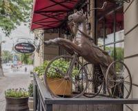 Forntida tre-rullad cykel för barn Royaltyfria Foton