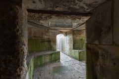 Forntida tunnelbanatunneler fotografering för bildbyråer