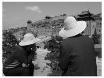 forntida turist för dragningsbangkok slott Royaltyfria Foton