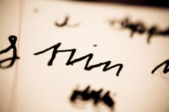 forntida tysk skrift arkivfoto