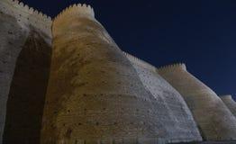 Forntida uppehåll av emir på tillflyktfästningen i Bukhara, Uzbekistan Centrala Asien arkivfoton