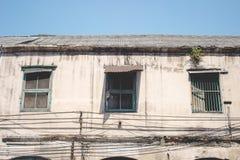 Forntida uppehåll i Bangkok Thailand Arkivfoto