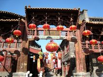 Forntida-utformad kinesisk minnes- nyckel Royaltyfri Bild
