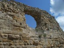 forntida vägg royaltyfri bild